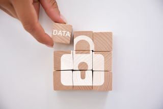 Person Holding Data Block